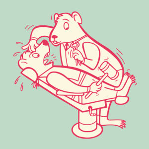 Hampster Dentist and Patient